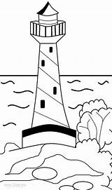 Lighthouse Coloring Pages Printable Realistic Adults Template Cool2bkids Lighthouses Getcolorings Sketch sketch template