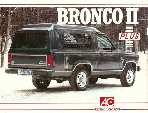 ford bronco ii  documents bronco ii corral