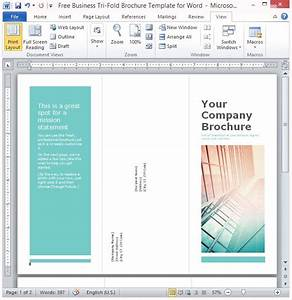 free business tri fold brochure template for word With template for brochure in word