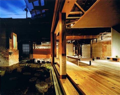 traditional wooden town house renovation  nara japan