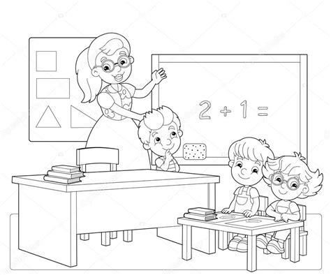 Kleurplaat Maken Illustrator by De Kleuren Pagina Het Klaslokaal Illustratie Voor De