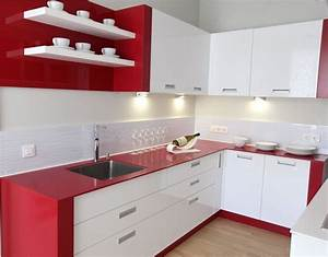 white red kitchen home design With kitchen design red and white