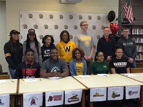 national letter of intent signing day twelve student athletes sign college letters of intent at