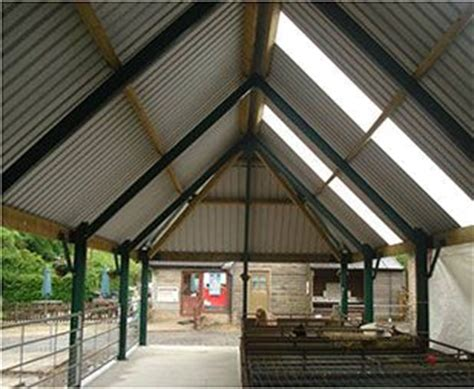 steeper roof pitch  hipped ends   roof  portal framed steel building