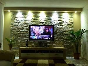 Steinwand Wohnzimmer Tv : steinwand steinwand hifi bildergalerie ~ Bigdaddyawards.com Haus und Dekorationen