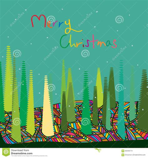 Weihnachtsbaum Bunt Geschmückt by Frohe Bunte Weihnachten Vektor Abbildung Bild