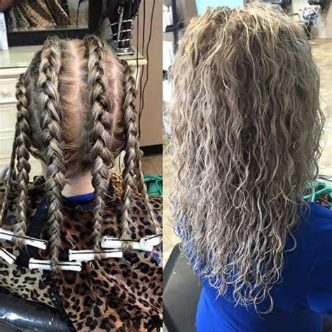 braid perm permed hairstyles wave perm hair styles