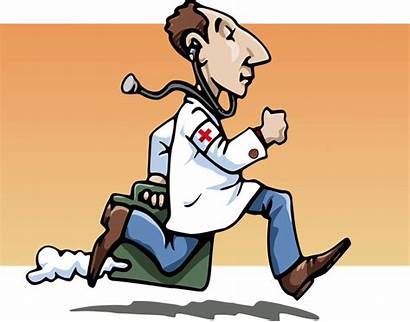 Doctor Hurry Physician Sick Clipart Patients Cliparts