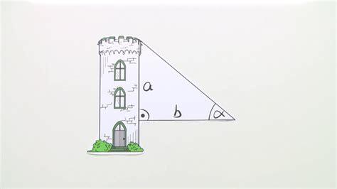 trigonometrische berechnung  rechtwinkligen dreieck