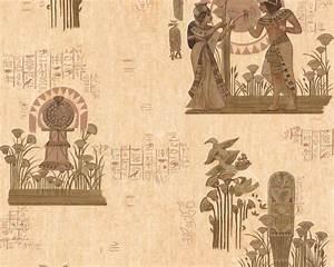 Tapeten In Brauntönen : tapete gypten beige delft retro tapeten pr sentiert von klang und kleid tapeten in ~ Sanjose-hotels-ca.com Haus und Dekorationen