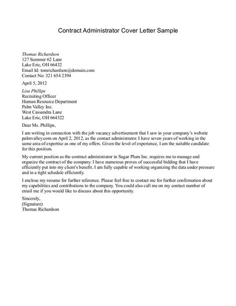 Cover Letter For Contract Agreement covering letter sles template 2best resume format