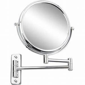 miroir grossissant x 10 rond a fixer percage h20 x l With miroir grossissant articulé salle bain