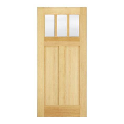 home depot craftsman door jeld wen 32 in x 80 in craftsman 3 lite unfinished fir