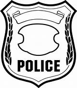 Badge Coloring Draw Hoe Police Sky sketch template
