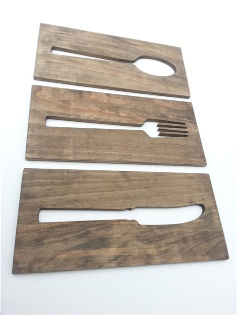 kitchen art wooden plaque fork spoon knife home by