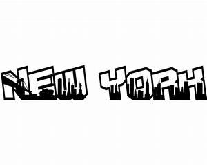 New York Schriftzug : aufkleber new york schriftzug viele farben skyline4u ~ Frokenaadalensverden.com Haus und Dekorationen