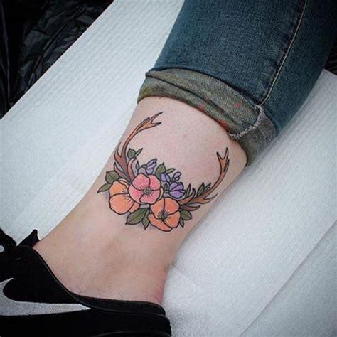ideas  flower ankle tattoos  pinterest