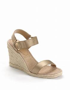 86d9cc82d86f lauren by ralph lauren indigo banded espadrille wedge sandals in natural  lyst