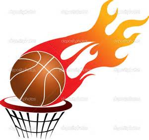 Flaming Basketball Hoop