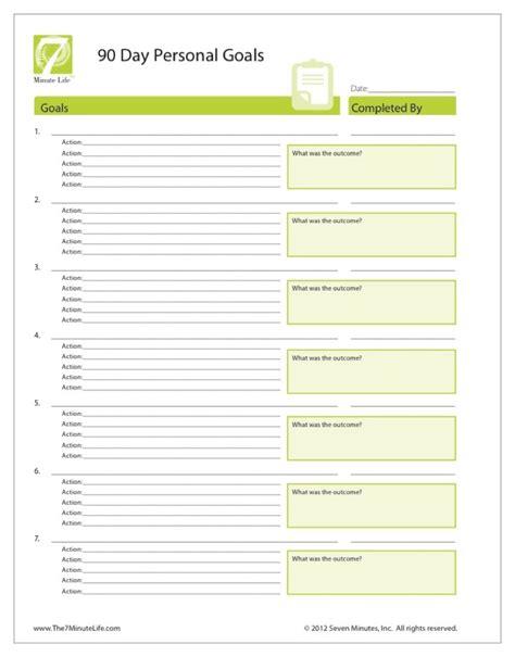 Goal Setting Template Personal Goal Setting Worksheet The 7 Minute