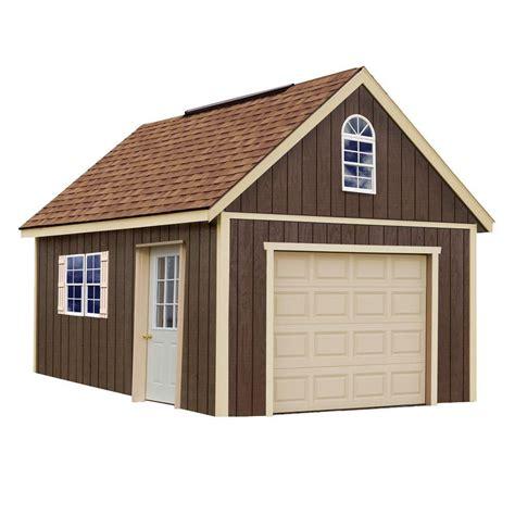 home depot garage best barns glenwood 12 ft x 24 ft wood garage kit
