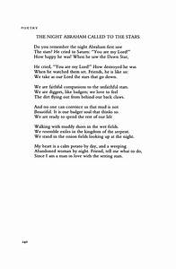 The Night Abraham Called to the Stars by Robert Bly ...