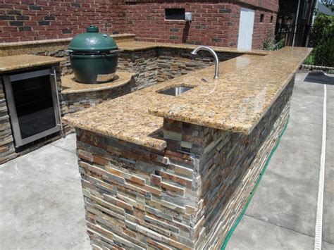 dazzling u shaped outdoor kitchen designs with sunset gold