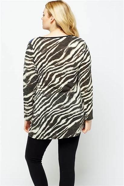 Zebra Contrast Tops