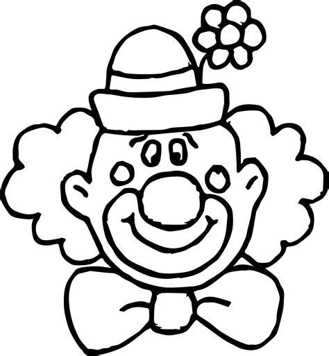 Kleurplaat Clowsgezicht by Flower Clown Coloring Page Wecoloringpage