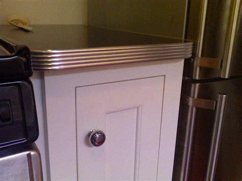 stainless steel countertop edging metal edged countertops kitchen restoration 5716