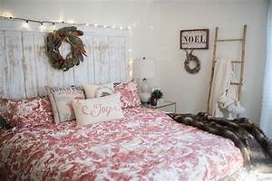 Our bedroom holiday decor wall decorations
