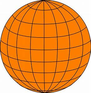 Big Orange Wire Globe Clip Art At Clker Com