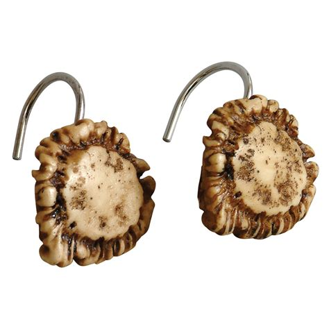 deer antler curtain holders antler furniture and decor set of 12 antler shower