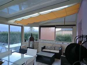 veranda bois contemporain With store veranda interieur prix