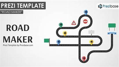 Template Road Prezi Timeline Templates Maker Presentation