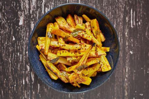 turmeric  curry leaf roast parsnips recipe great