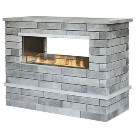 unilock fireplace kits fireplaces unilock