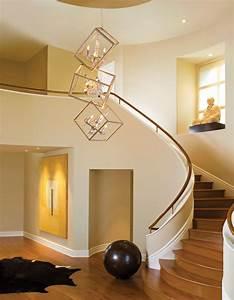 Foyer, Cascading, 24, Bulbs, Glass, Chandelier, For, Entry, Modern, House, U2013, Modern, House