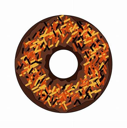 Clipart Donut Donuts Halloween Fall Transparent Cartoon