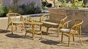 Salon Jardin Osier : salon de jardin rotin 1 canap 2 fauteuils 1 table sur jardindeco pour une ambiance ~ Voncanada.com Idées de Décoration