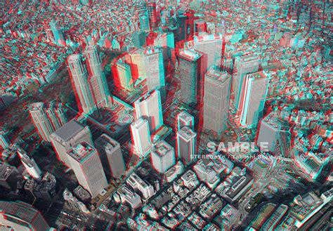 3d Picture by 3d Tokyo Aerial Stereo 3d Photo In Anaglyph On Behance