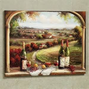 Fabulous country and wine bottles portray as vintage