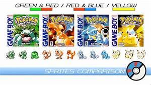 Sprites Comparison (Pokemon Green, Red, Blue & Yellow ...