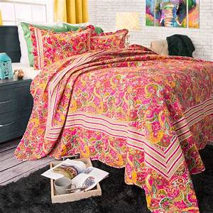 somerset, home, 2pc, paisley, quilt, bedding, set