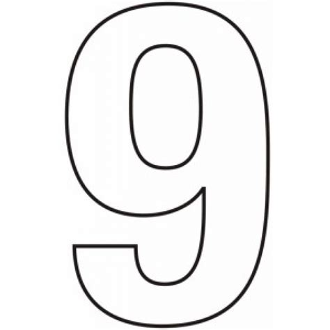 numbers black and white black and white number nine pictures to pin on
