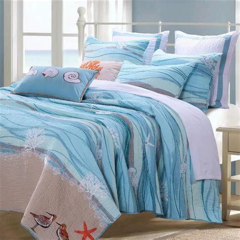 nautical quilt sets coastal nautical blue cotton quilt set