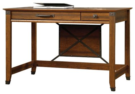 sauder carson forge writing desk in washington cherry farmhouse desks and hutches by cymax