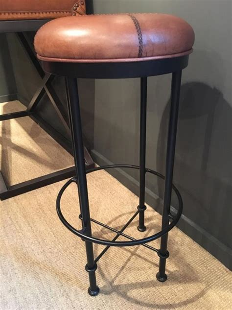 light brown stool light brown leather metal bar stool mulberry moon
