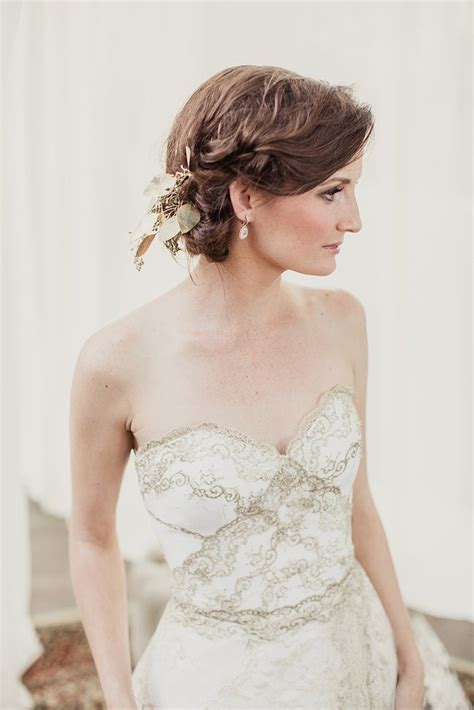 gold lace  white tulle sweetheart strapless
