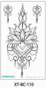 Tattoo Chandelier Coloring Boho Henna Hawaii Tribal Rose Lotus Tattoos Collegesportsmatchups Drawings Mandala Manya Elegant Sleeve Nature Lower sketch template